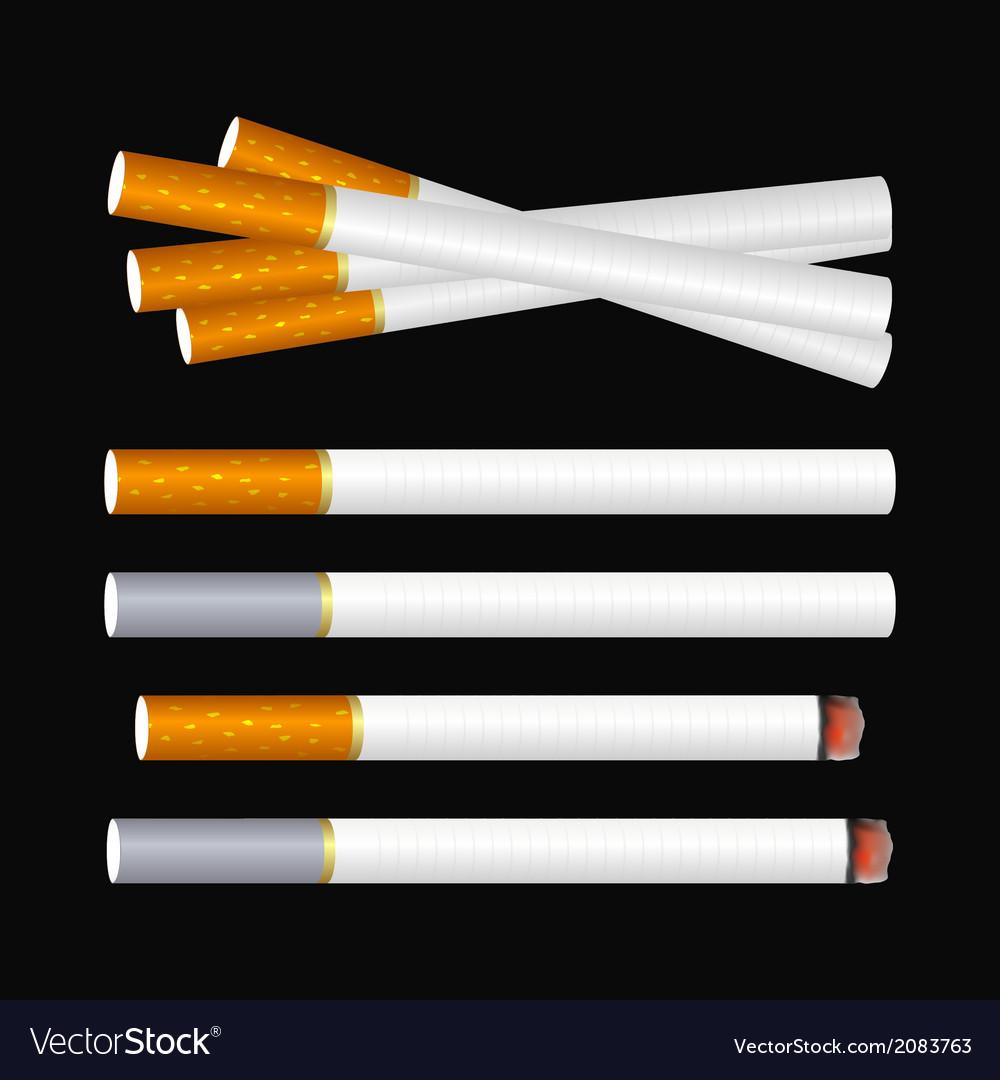 Cigarette on black vector | Price: 1 Credit (USD $1)