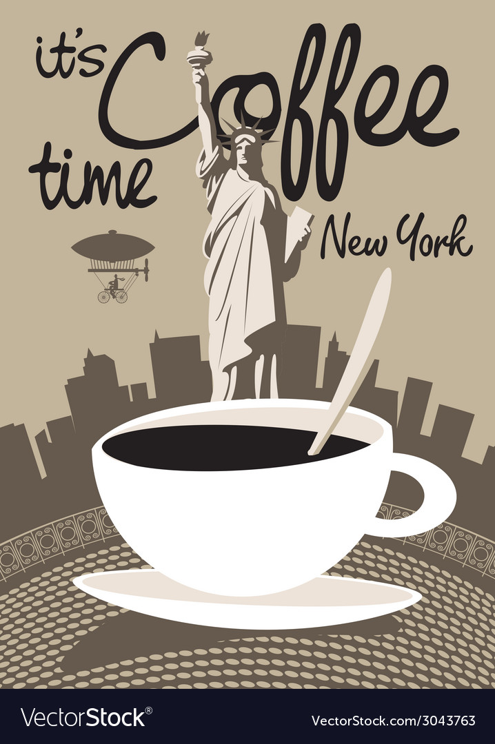 Coffee new york vector | Price: 1 Credit (USD $1)