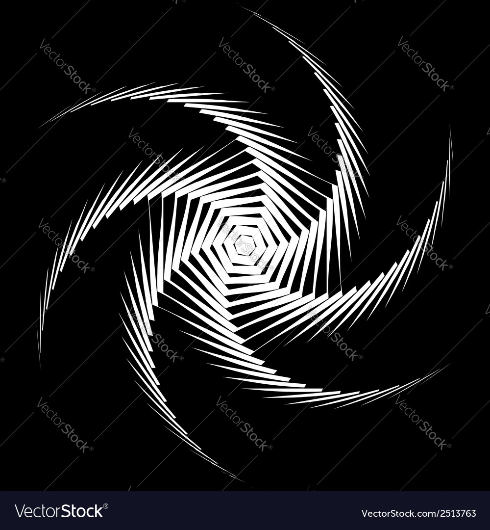 Design monochrome whirl octopus background vector   Price: 1 Credit (USD $1)