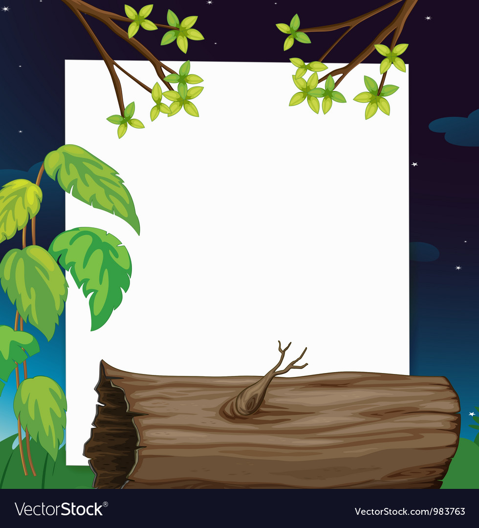 Evening forest border vector | Price: 1 Credit (USD $1)