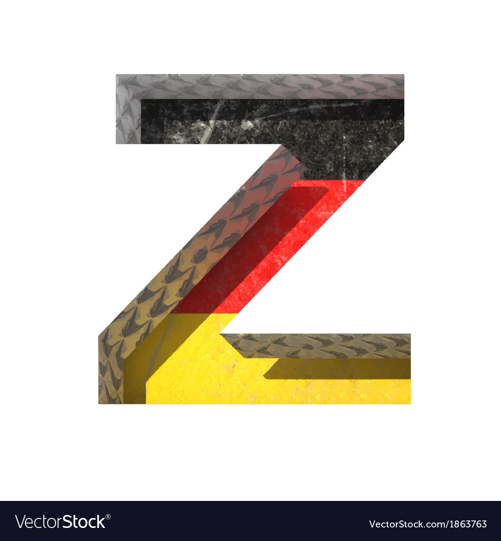 Germany cutted figure z vector | Price: 1 Credit (USD $1)