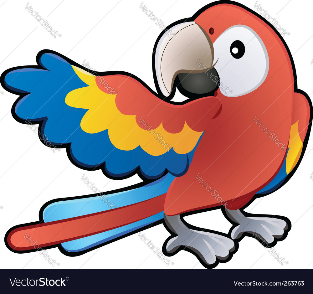 Macaw parrot illustration vector | Price: 1 Credit (USD $1)