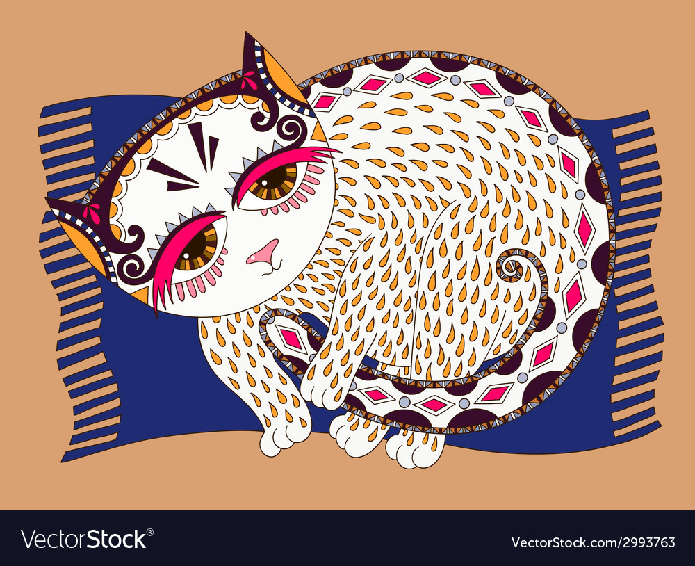 Original of decorative cat vector | Price: 1 Credit (USD $1)