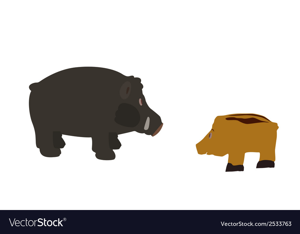 Pig isolated on white background  eps10 vector | Price: 1 Credit (USD $1)