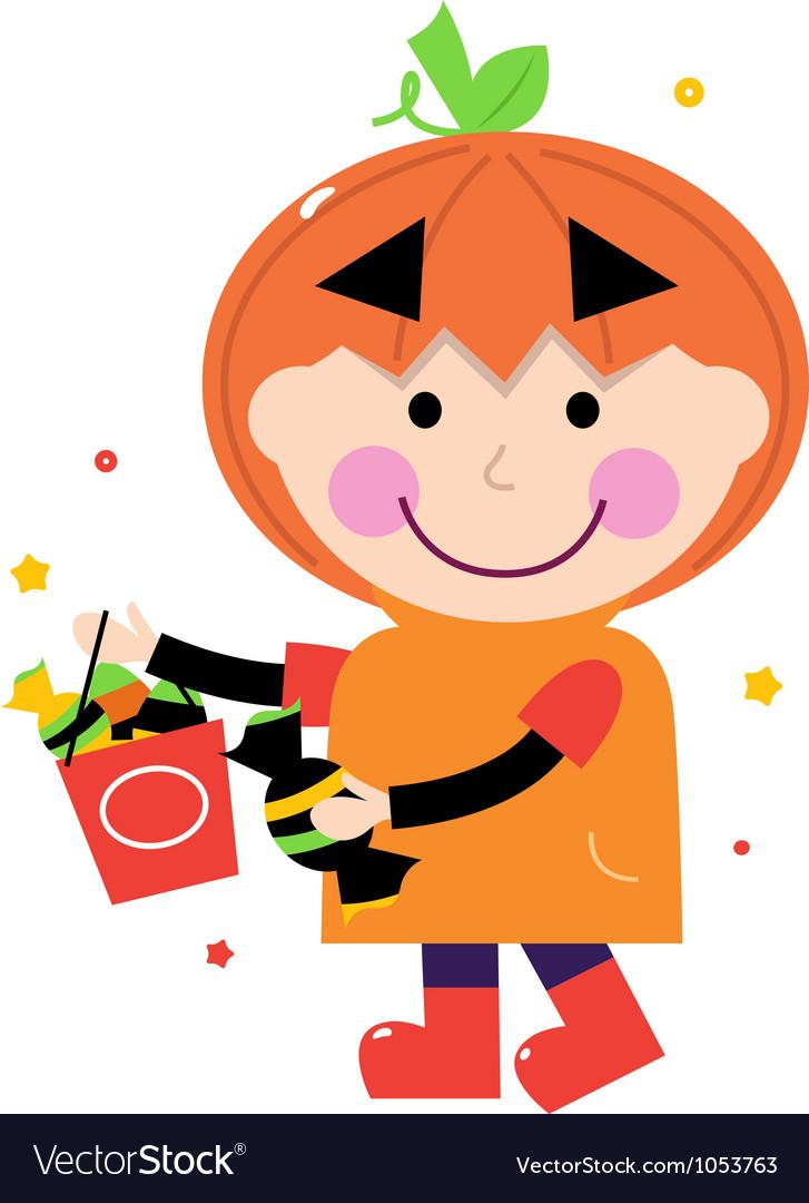 Pumpkin halloween boy vector   Price: 1 Credit (USD $1)