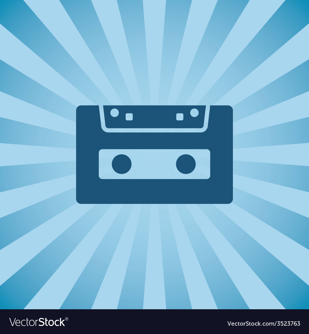 Retro poster audio cassette vector | Price: 1 Credit (USD $1)