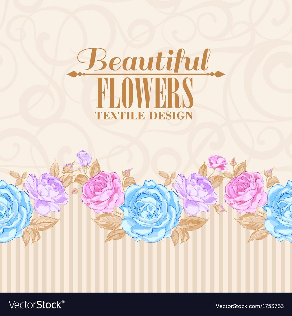 Rose frame invitation card vector | Price: 1 Credit (USD $1)