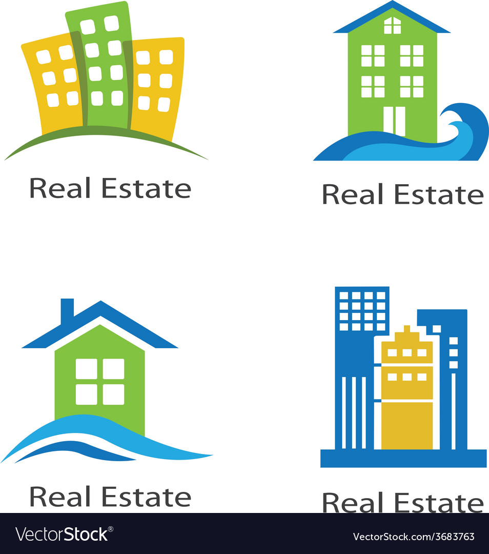 Set of logos of real estate vector | Price: 1 Credit (USD $1)