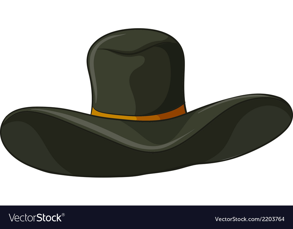 A gray hat vector | Price: 1 Credit (USD $1)