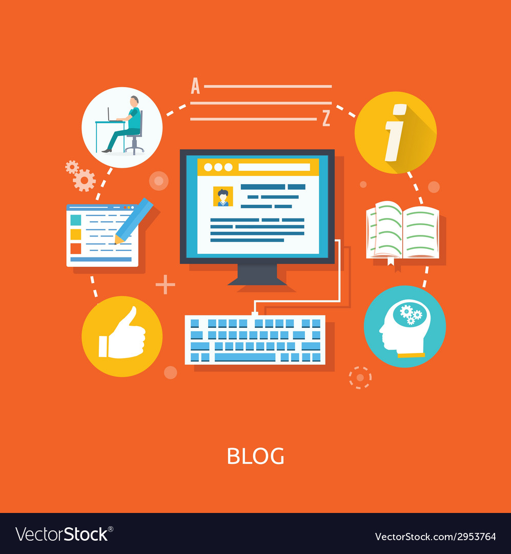 Blogging and writing for website vector | Price: 1 Credit (USD $1)