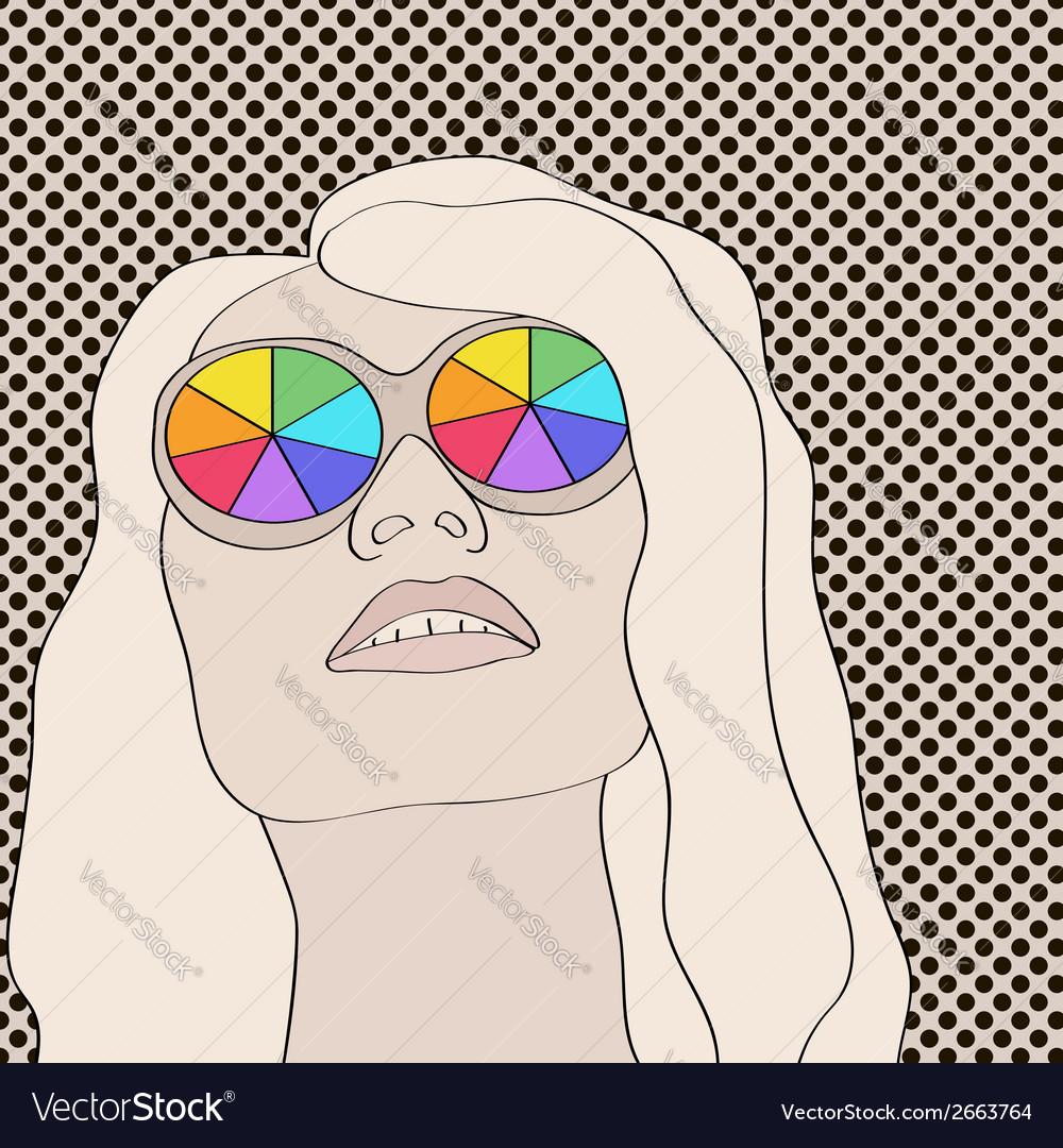Blonde woman vector   Price: 1 Credit (USD $1)