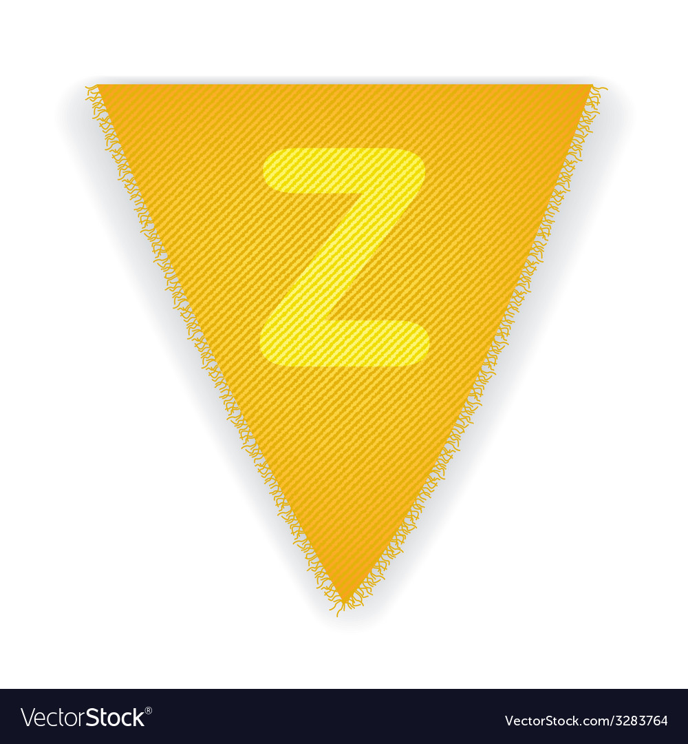 Bunting flag letter z vector | Price: 1 Credit (USD $1)