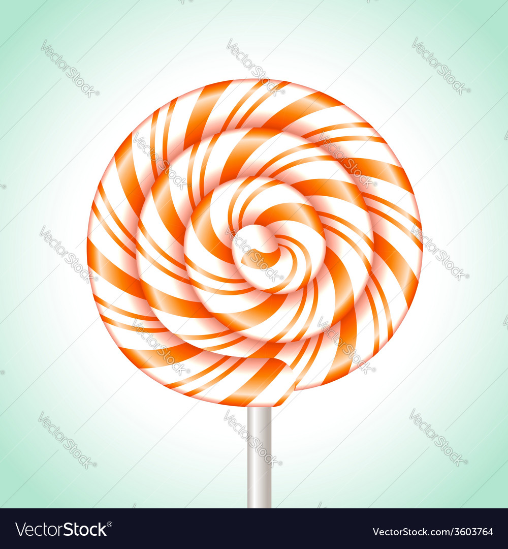 Candy cane sweet spiral vector | Price: 1 Credit (USD $1)