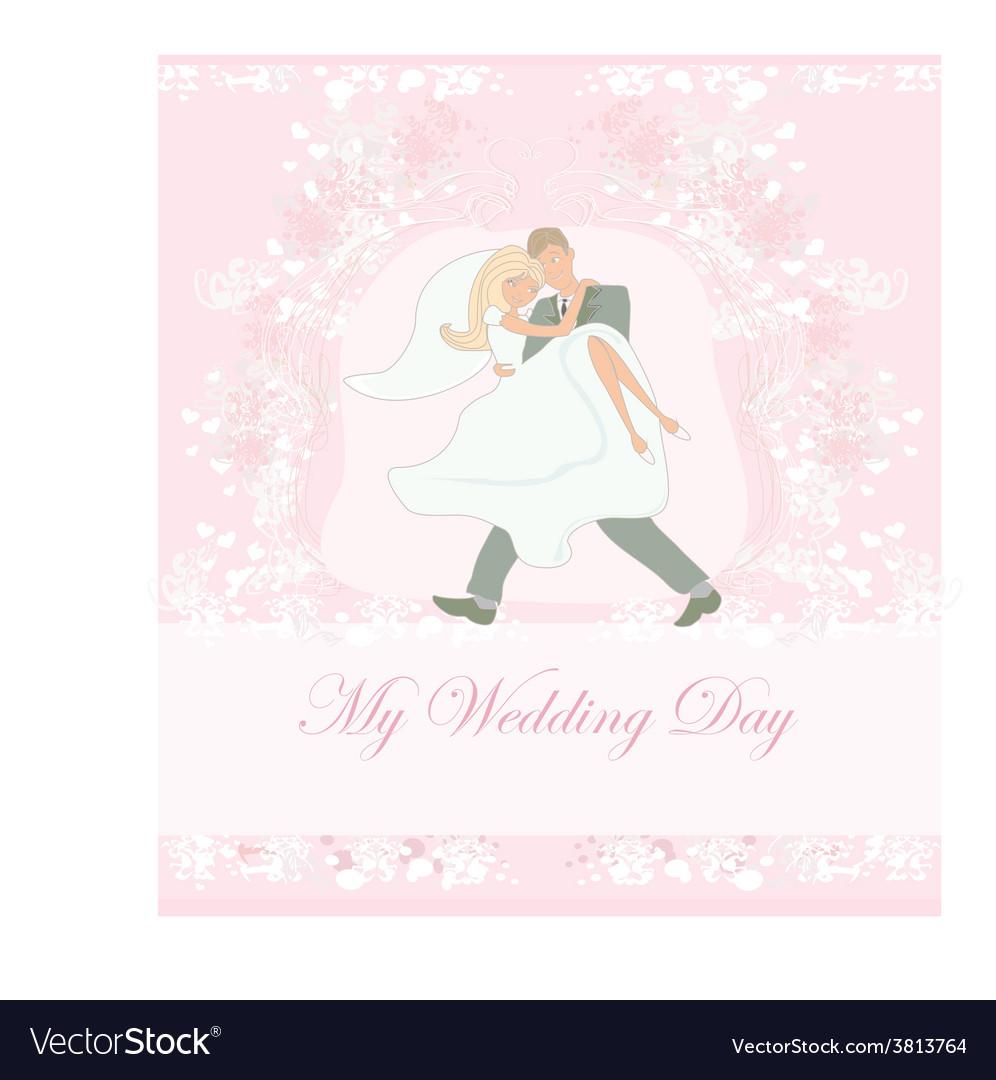 Elegant wedding invitation with happy wedding vector | Price: 1 Credit (USD $1)