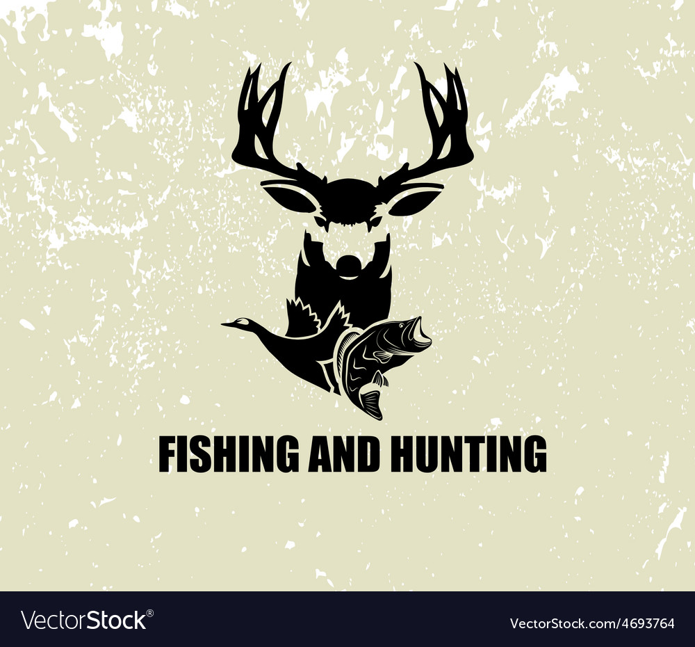 Fishing and hunting vector | Price: 1 Credit (USD $1)