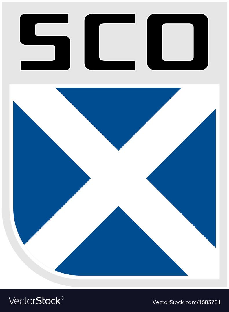 Flag of scotland icon vector   Price: 1 Credit (USD $1)