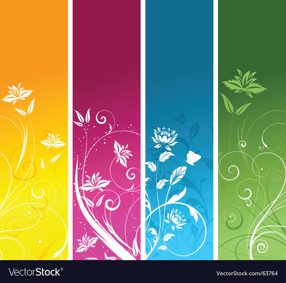 Floral panels vector | Price: 1 Credit (USD $1)