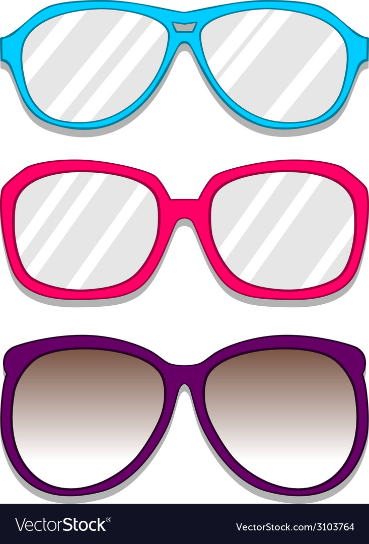 Glasses pack vector | Price: 1 Credit (USD $1)