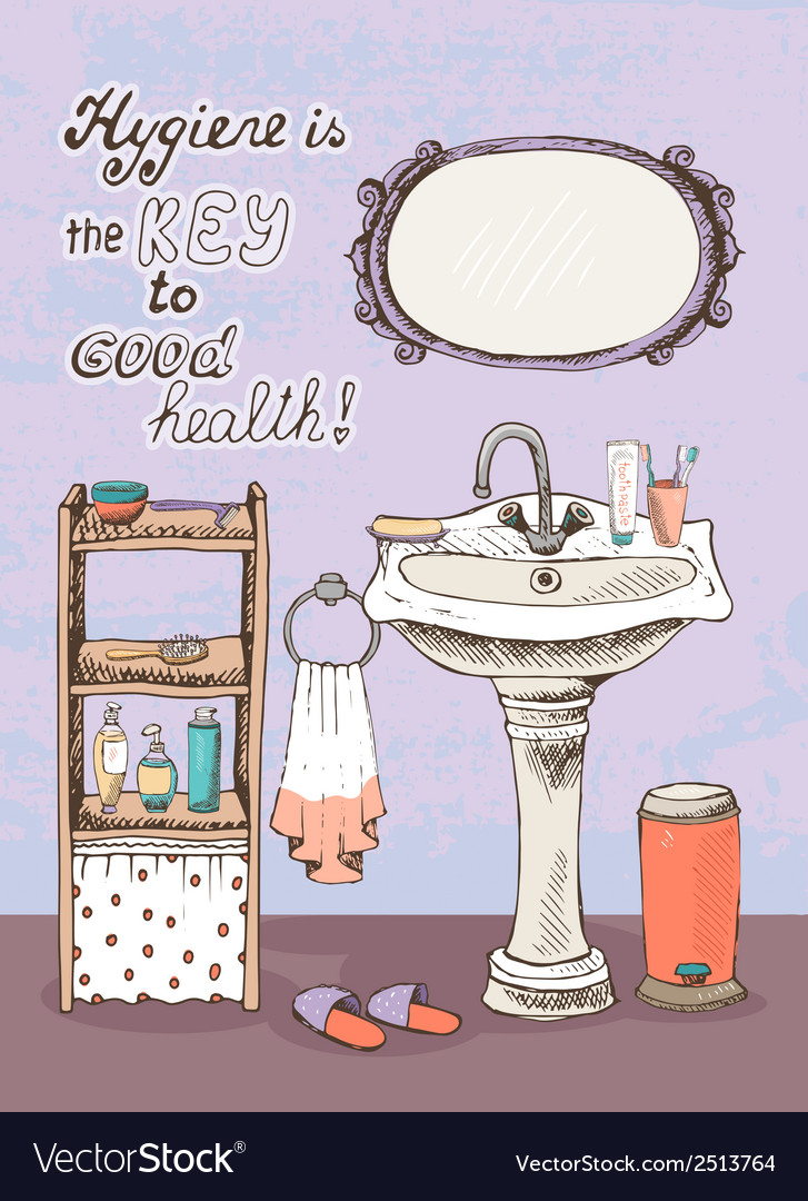 Hygiene is a key to good health vector | Price: 1 Credit (USD $1)