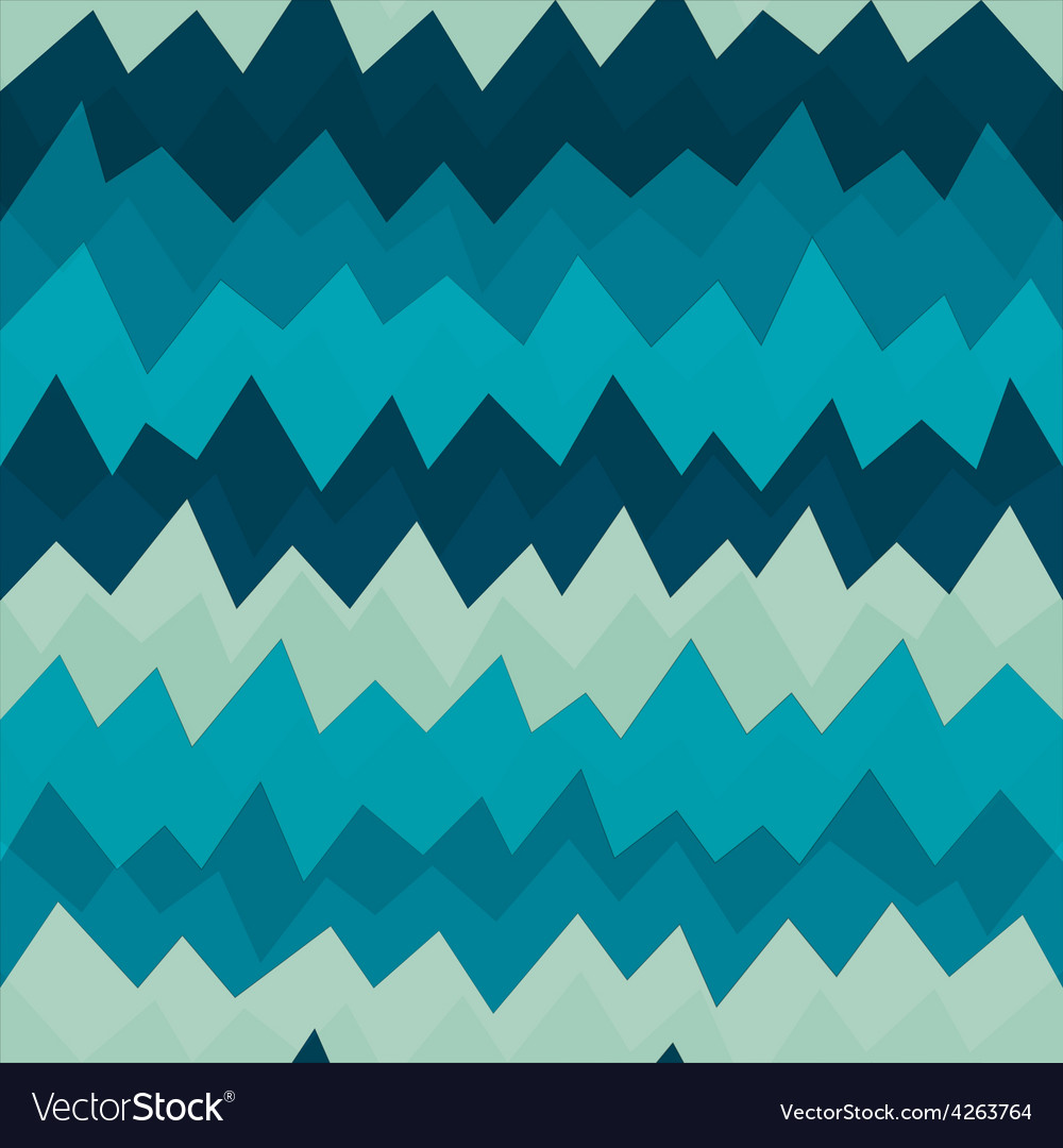 Marine zigzag seamless pattern with grunge effect vector | Price: 1 Credit (USD $1)