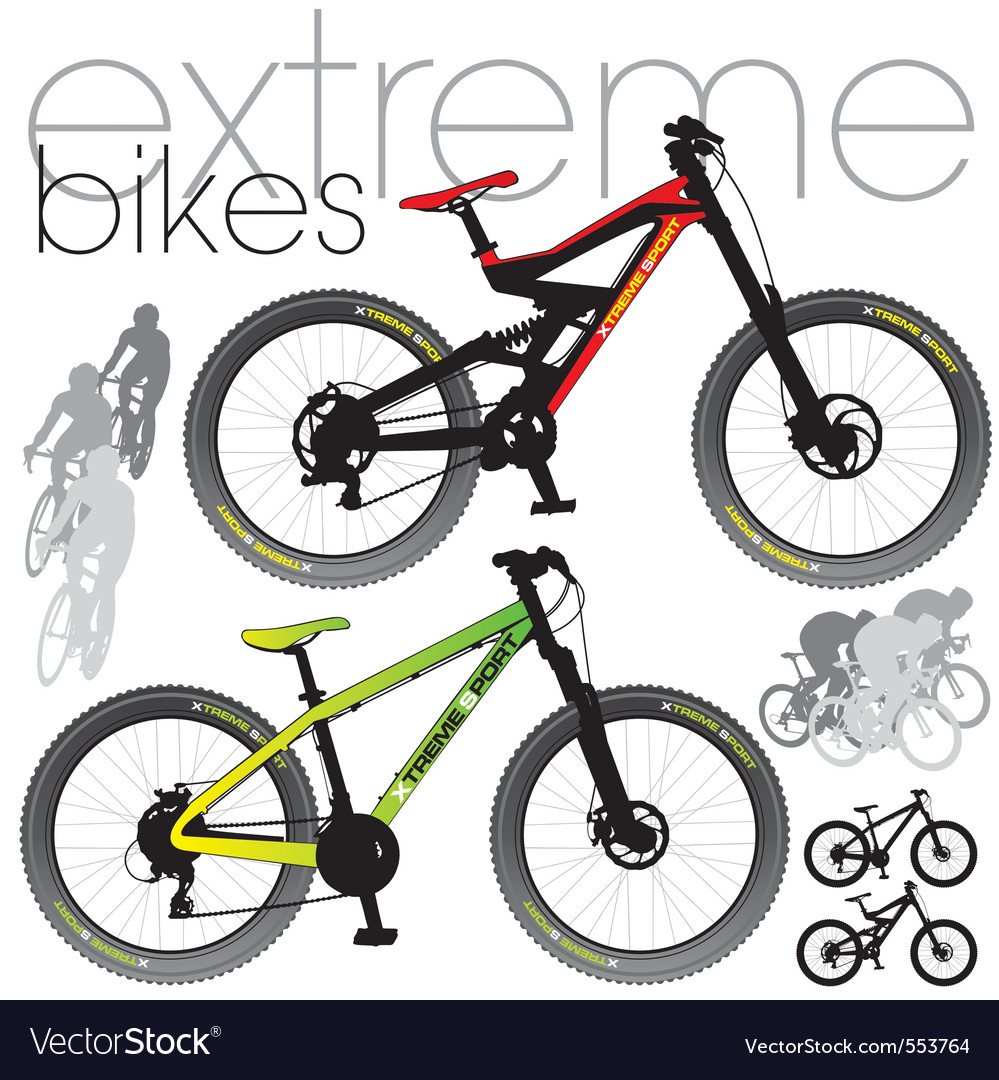 Mountain bikes vector | Price: 3 Credit (USD $3)