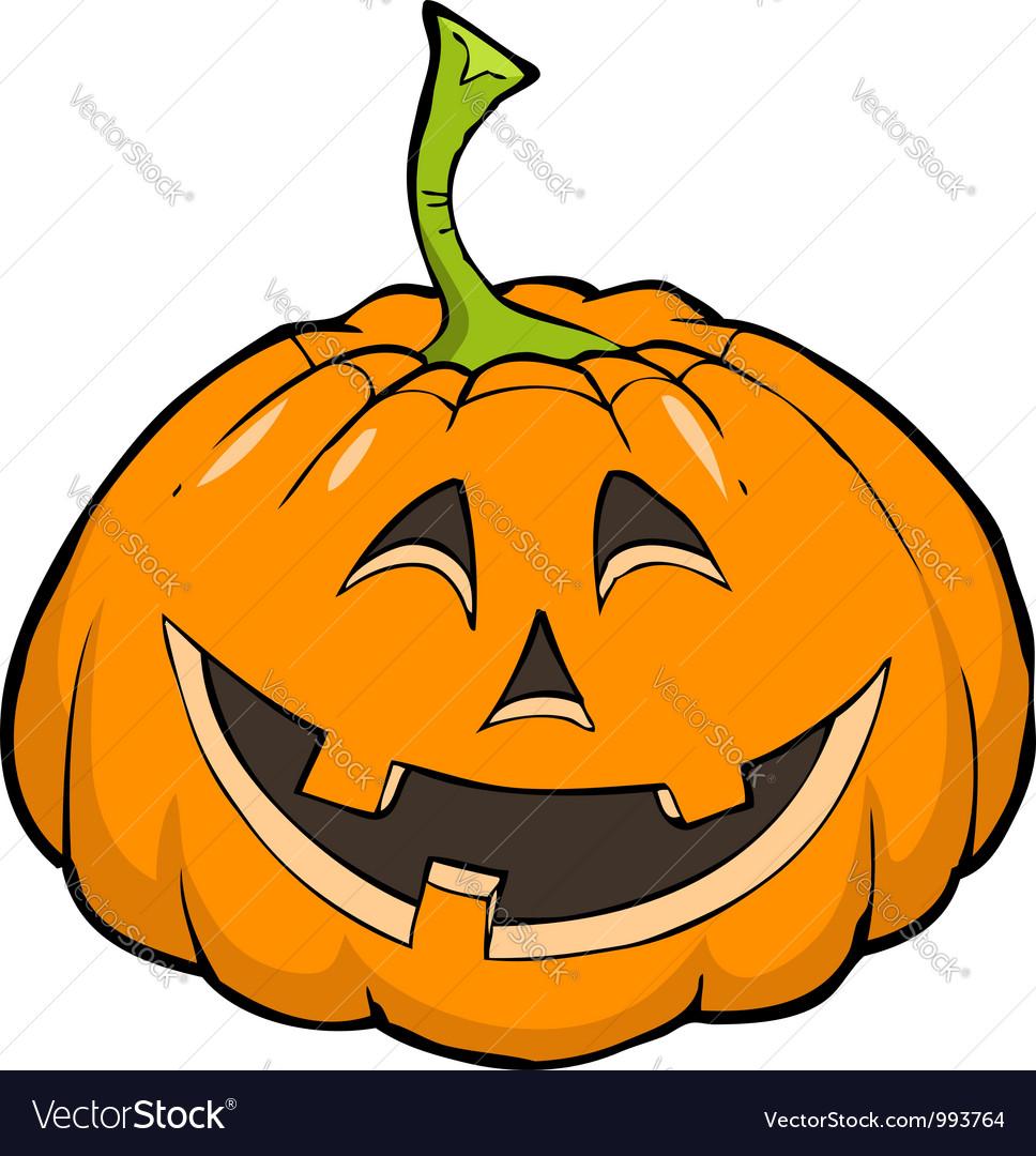 Smiling pumpkin vector | Price: 1 Credit (USD $1)