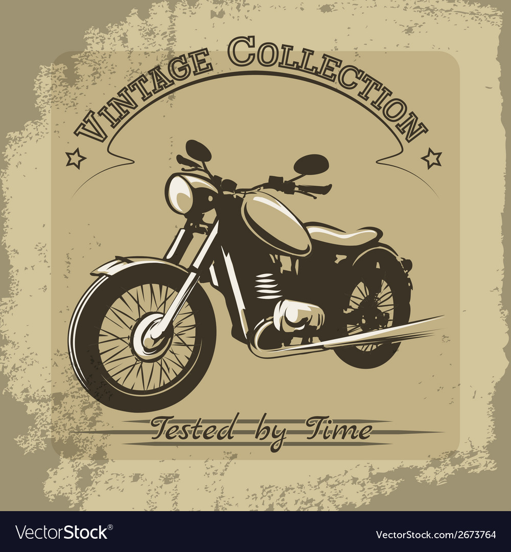 Vintage motorcycle poster vector | Price: 1 Credit (USD $1)
