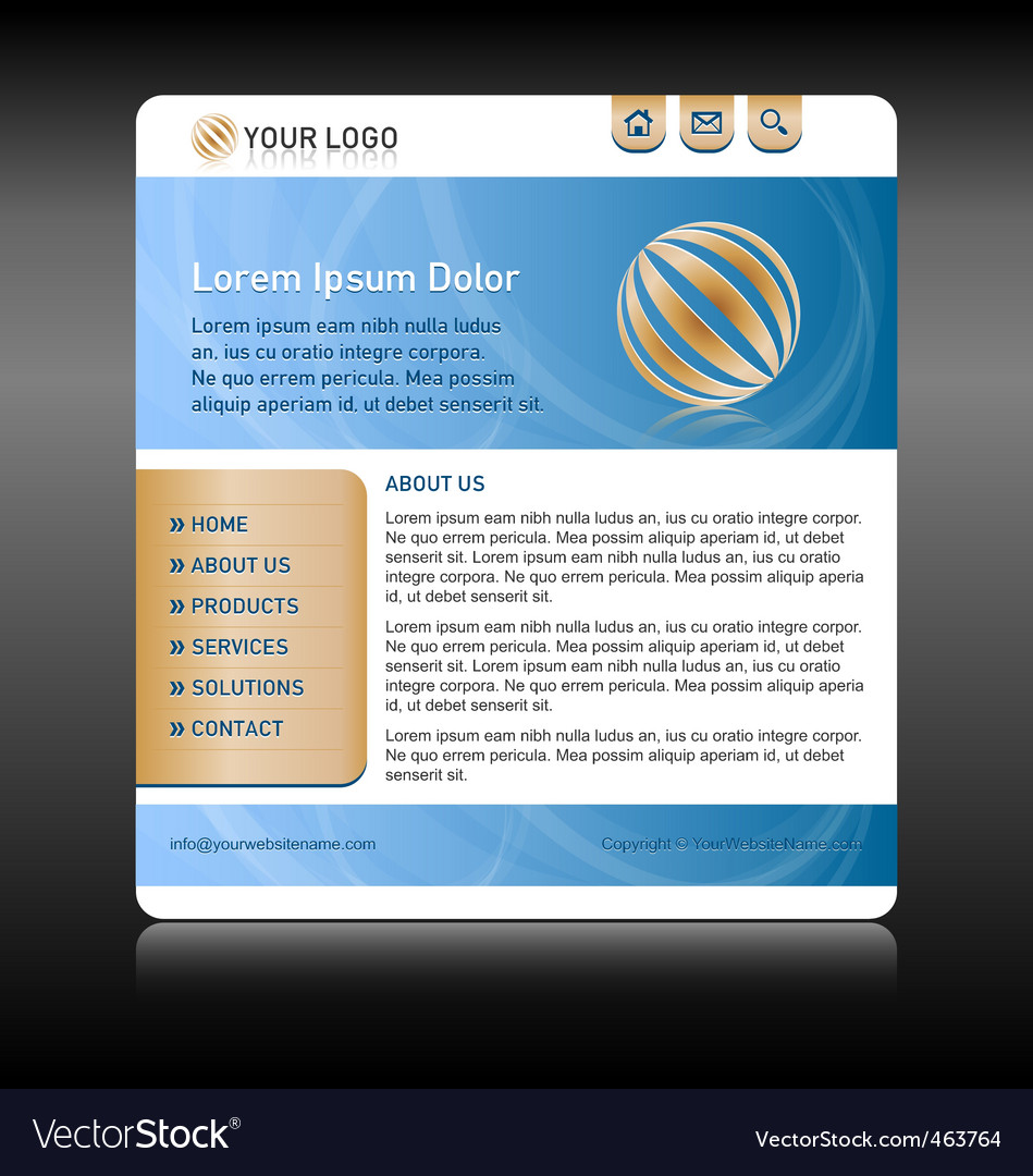 Website template layout vector | Price: 1 Credit (USD $1)