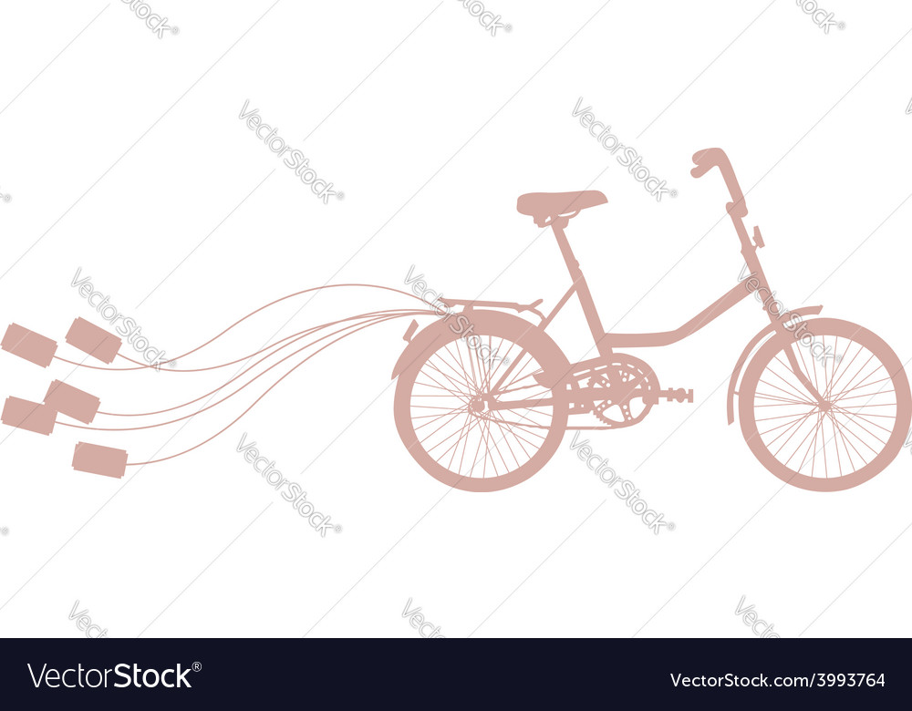 With retro bicycle vector | Price: 1 Credit (USD $1)