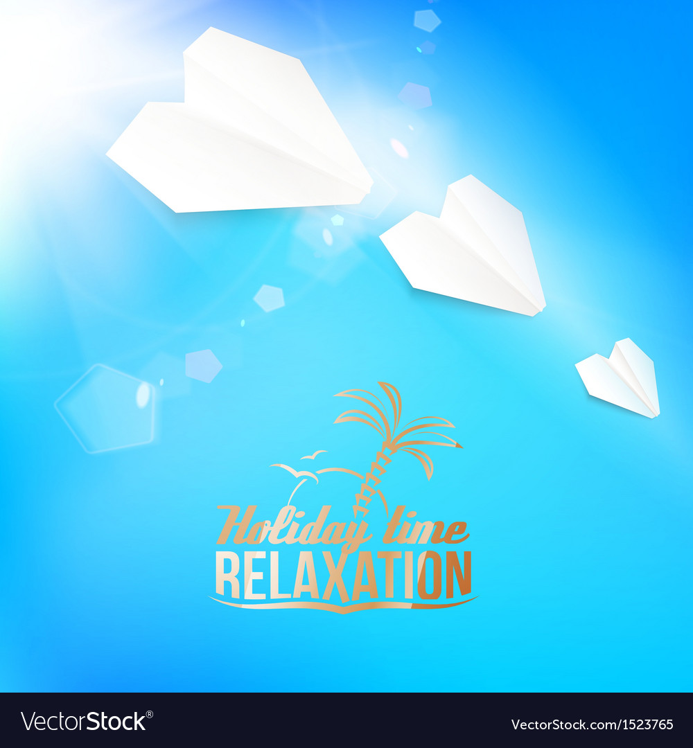 Background with a summer sky and airplane vector   Price: 1 Credit (USD $1)