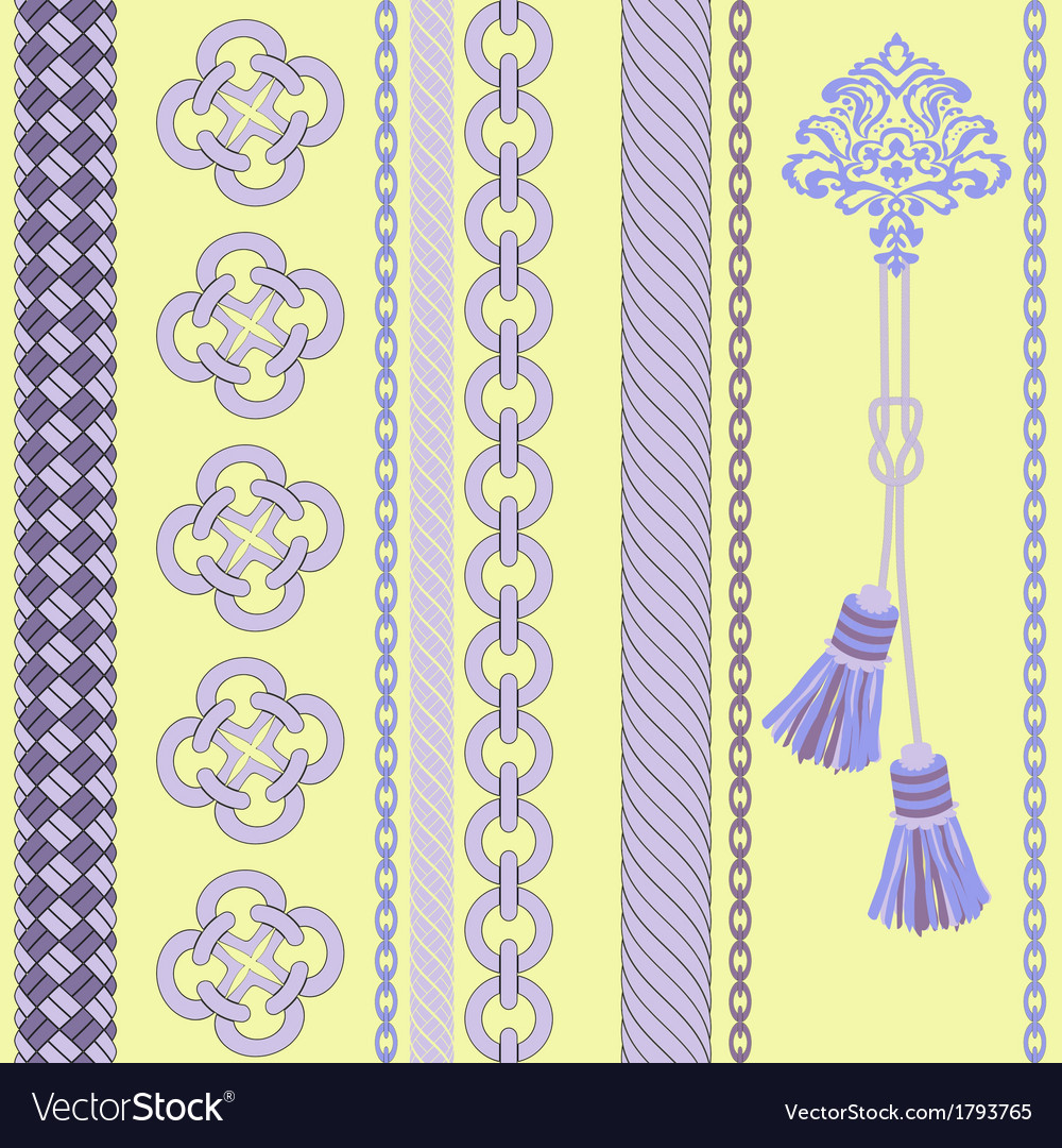 Background with chain  ropetassel vector | Price: 1 Credit (USD $1)