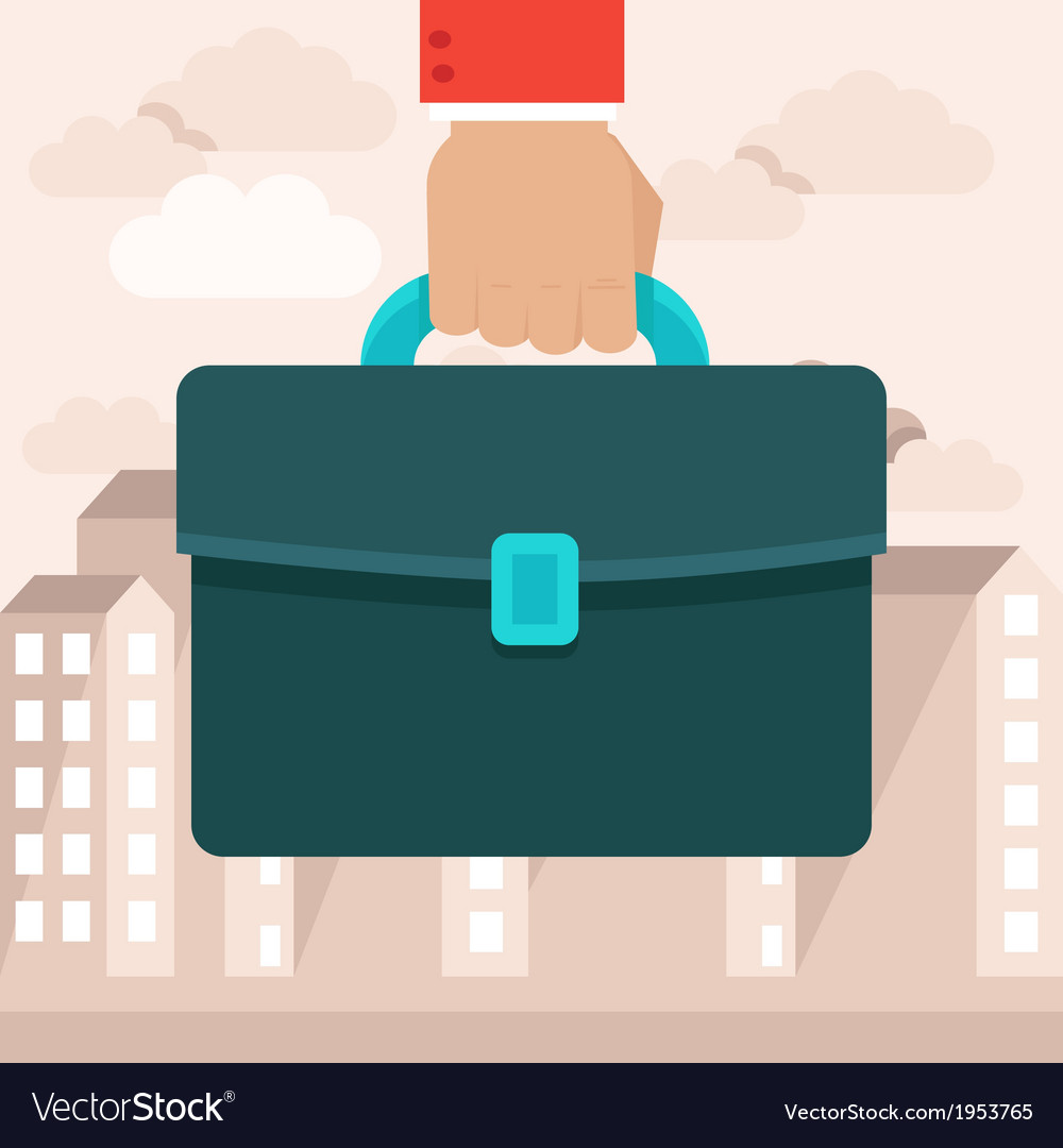 Business briefcase vector | Price: 1 Credit (USD $1)