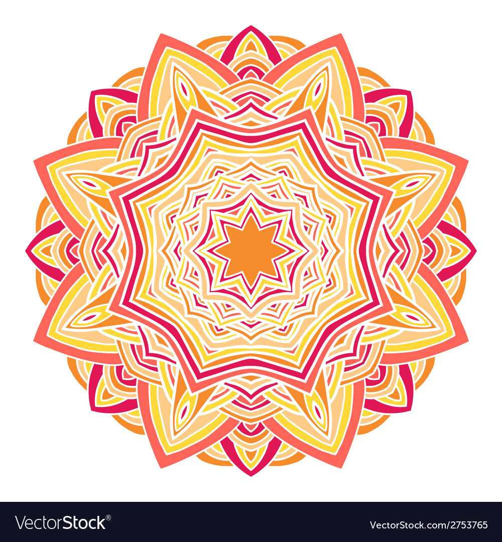 Circular decorative ornament arabic pattern vector | Price: 1 Credit (USD $1)