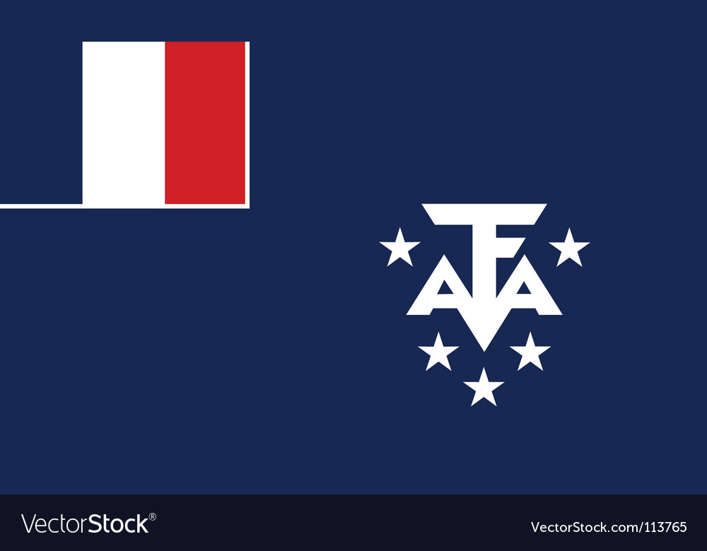 French southern and antarctic lands flag vector | Price: 1 Credit (USD $1)
