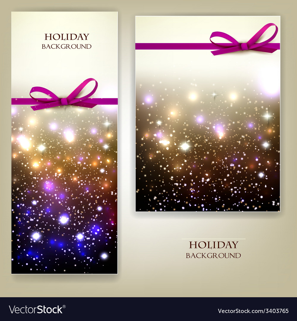 Greeting cards with red bows and copy space vector | Price: 3 Credit (USD $3)