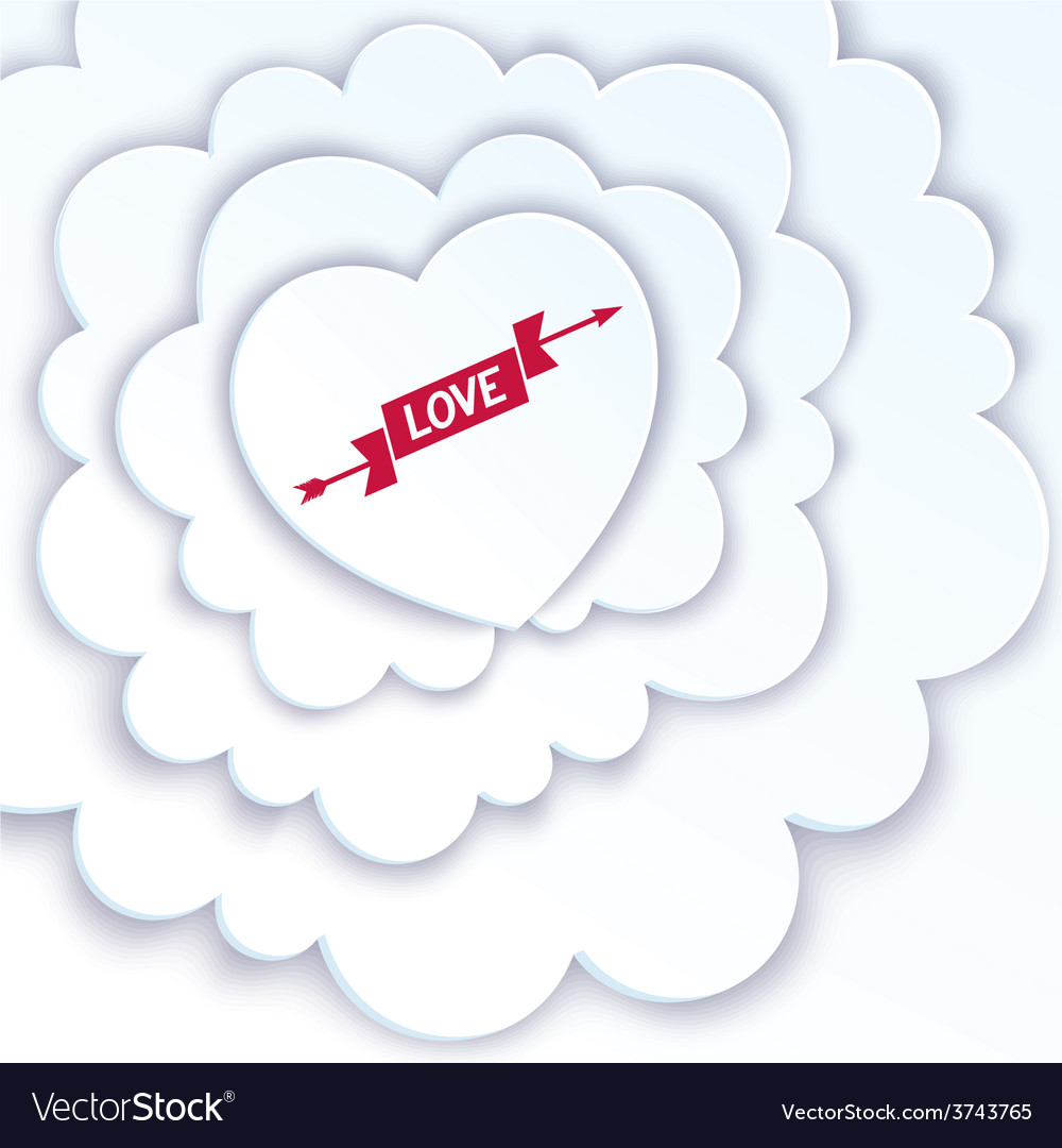 Heart in the clouds vector | Price: 1 Credit (USD $1)