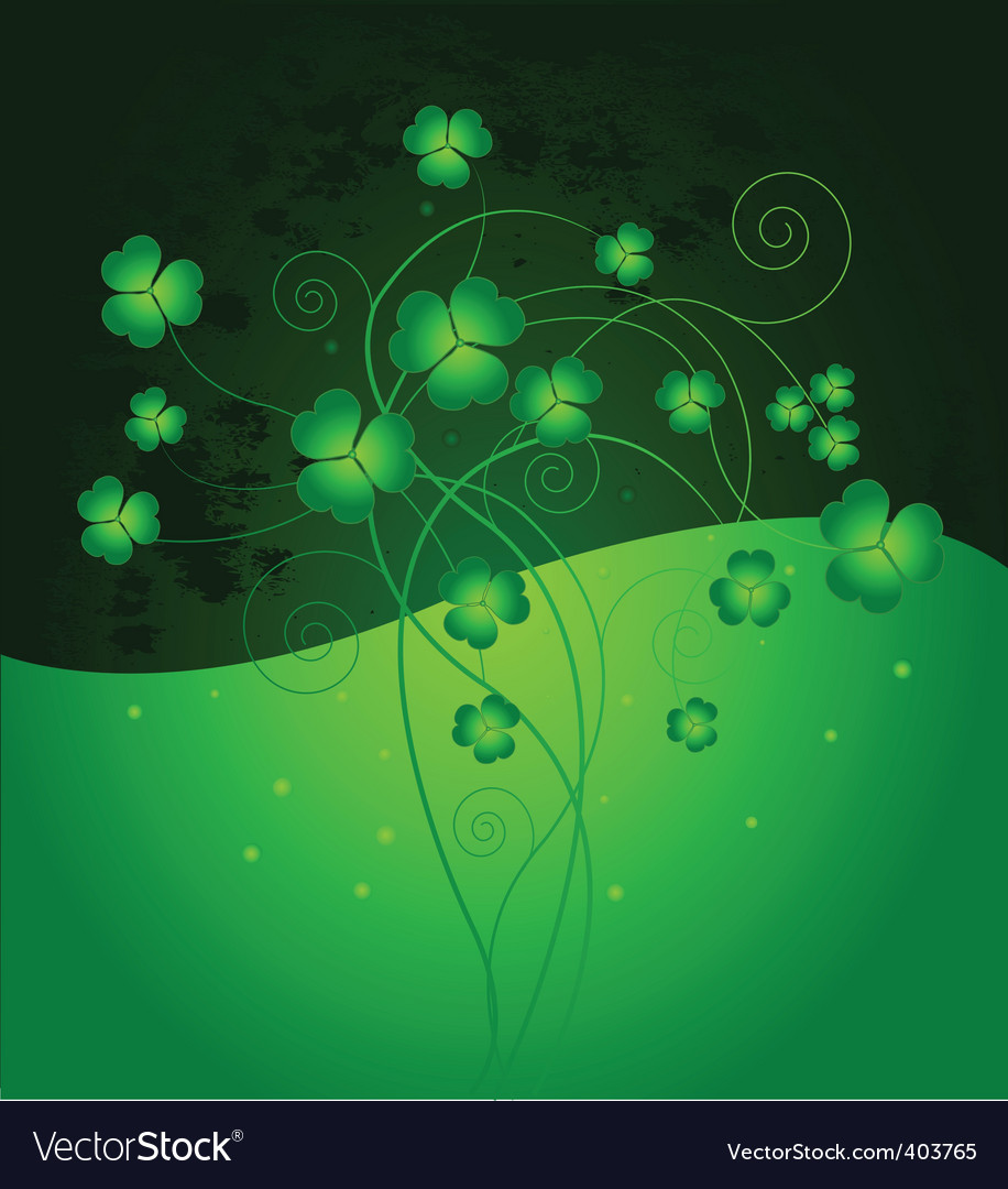 Lucky clover background vector | Price: 1 Credit (USD $1)