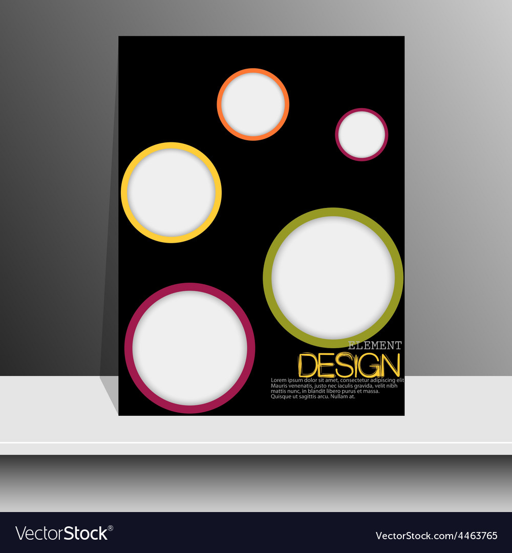Magazine cover with pieces of colored paperfor vector | Price: 1 Credit (USD $1)