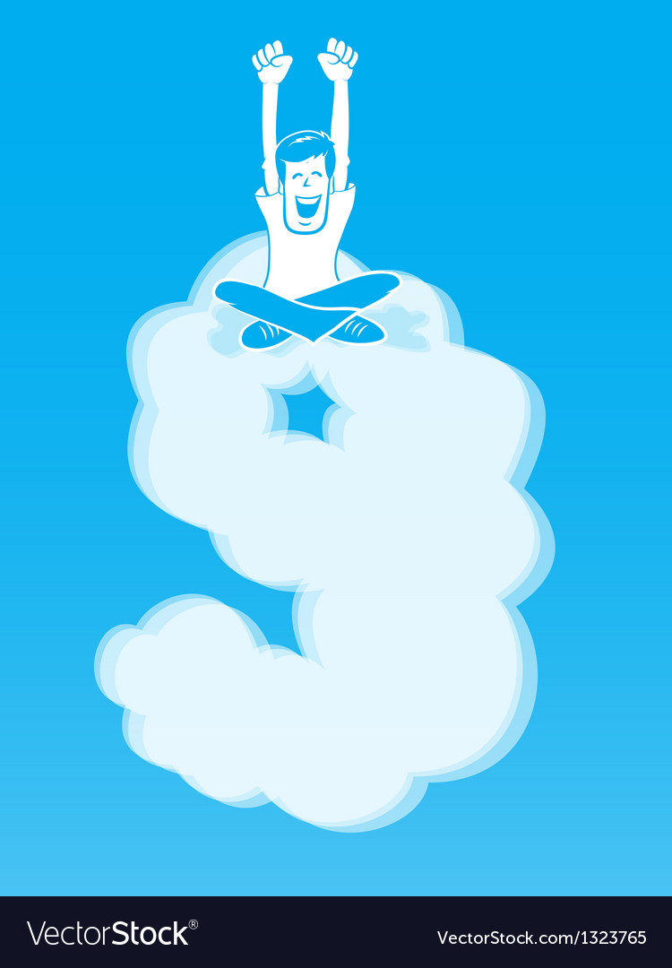 On cloud nine vector | Price: 1 Credit (USD $1)