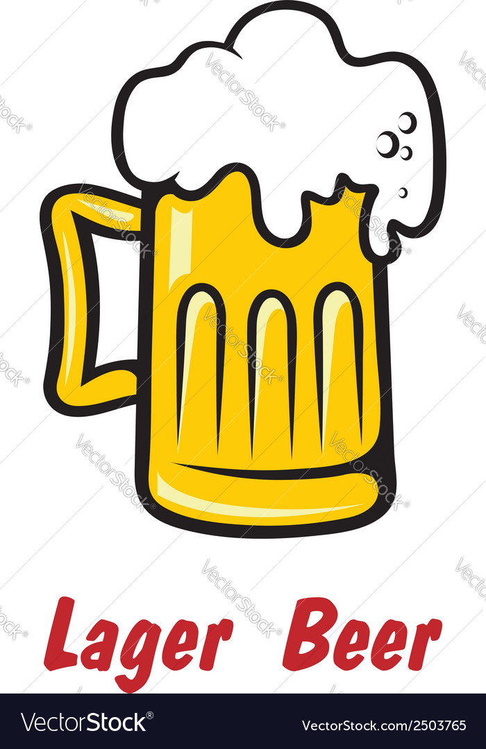 Pint of golden frothy lager or beer vector | Price: 1 Credit (USD $1)