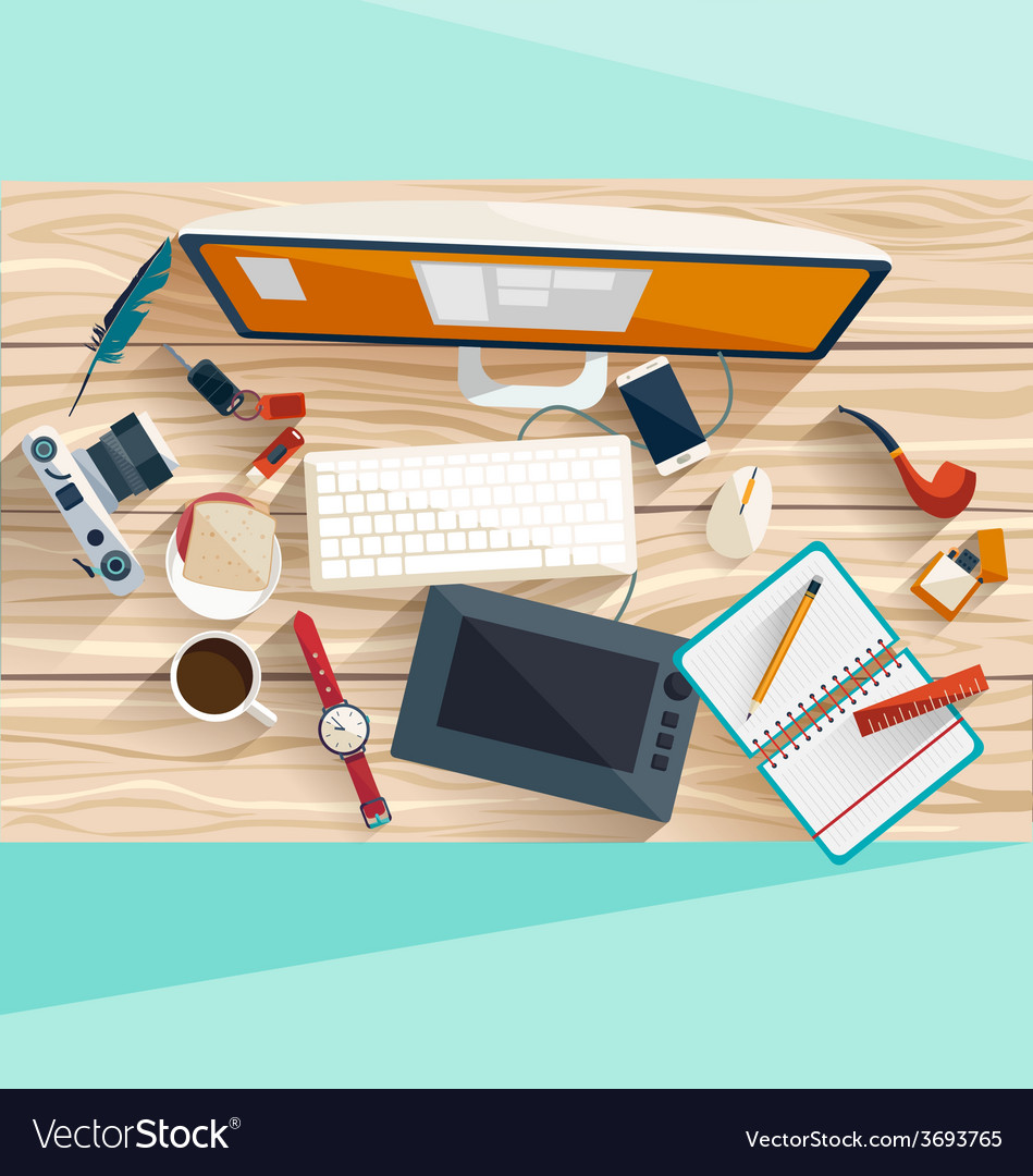Workplace concept vector | Price: 1 Credit (USD $1)
