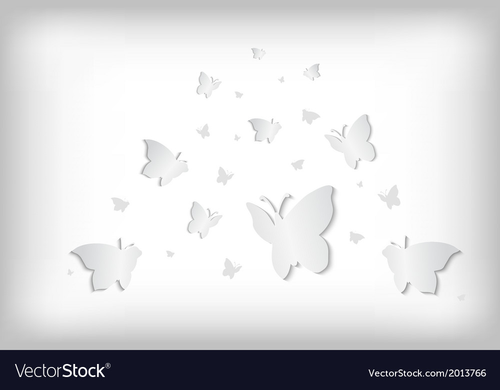 Abstract paper butterflies vector | Price: 1 Credit (USD $1)