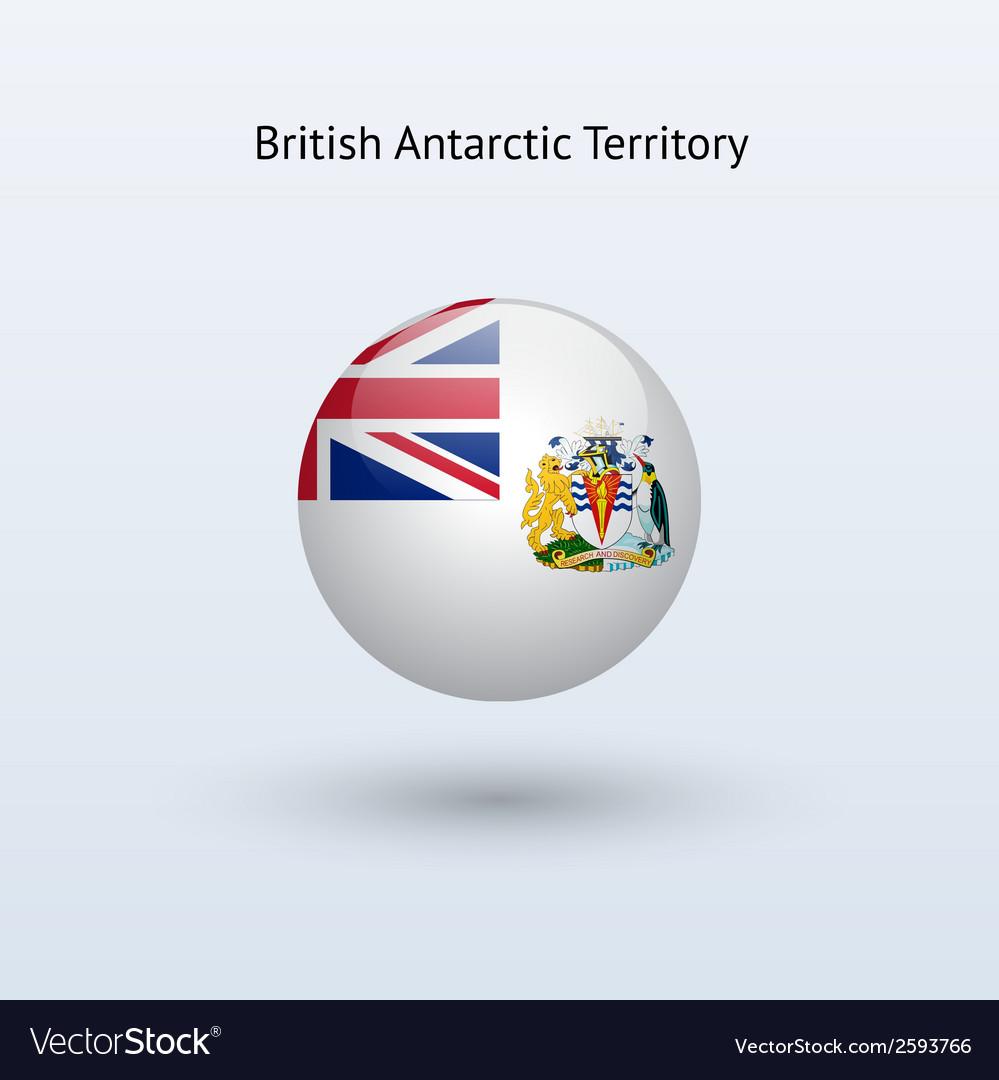 British antarctic territory round flag vector | Price: 1 Credit (USD $1)