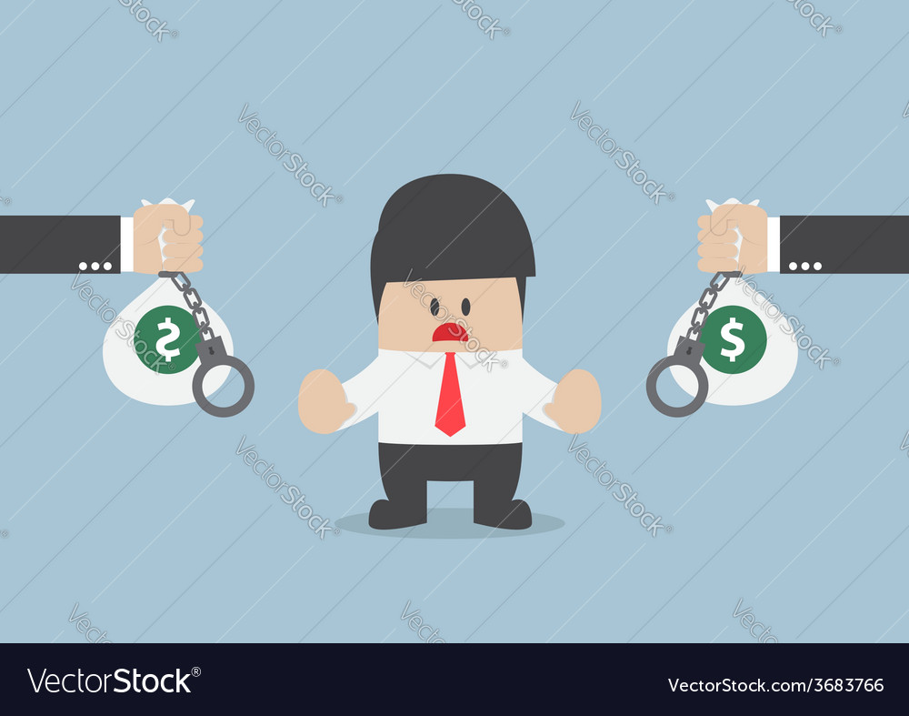 Businessman do not accept loan offer vector | Price: 1 Credit (USD $1)