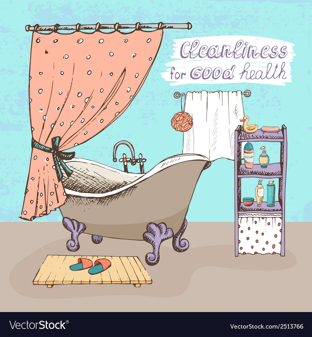 Cleanliness for good health vector | Price: 1 Credit (USD $1)