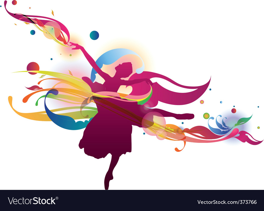 Flourish ballerina vector | Price: 1 Credit (USD $1)