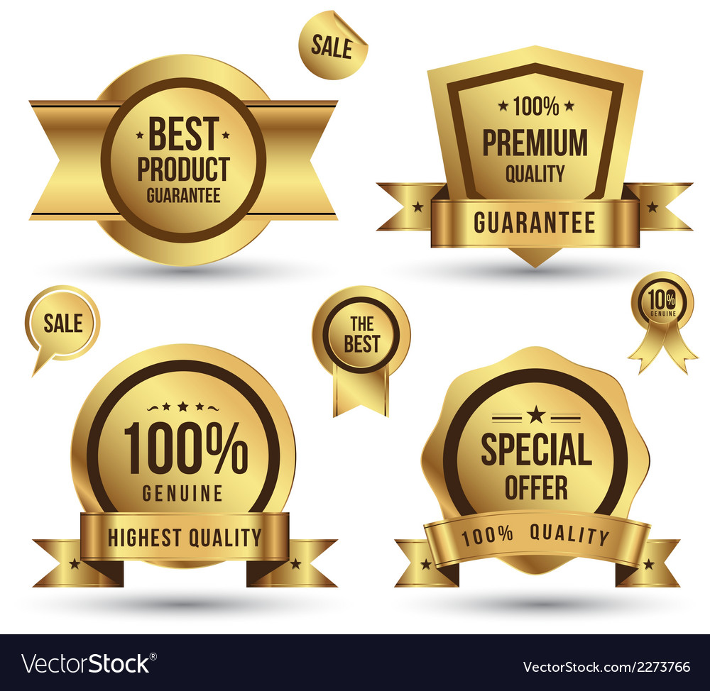 Gold tag set vector   Price: 1 Credit (USD $1)