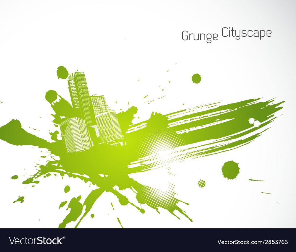 Green abstract brush art vector | Price: 1 Credit (USD $1)