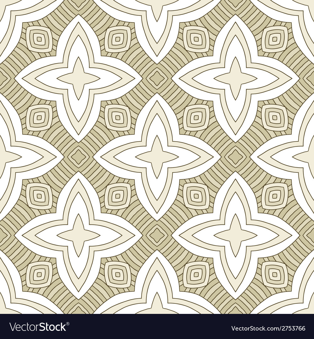Seamless ornate geometric pattern vector | Price: 1 Credit (USD $1)