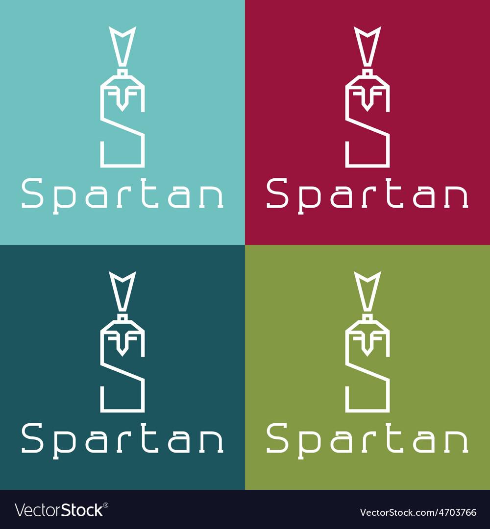 Spartan warrior monogram vector | Price: 1 Credit (USD $1)